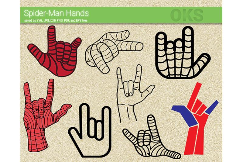 Spider Man Hands Svg Svg Files Vector Clipart Cricut Download