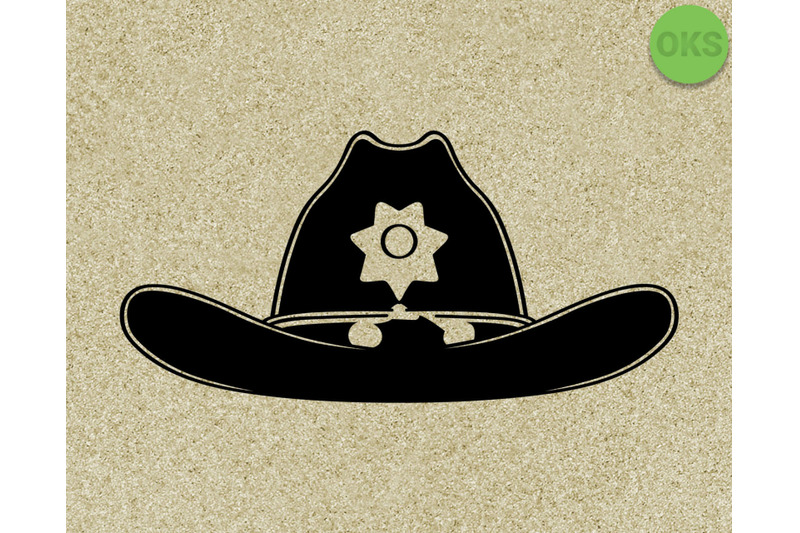 Sheriff S Hat Svg Svg Files Vector Clipart Cricut Download By