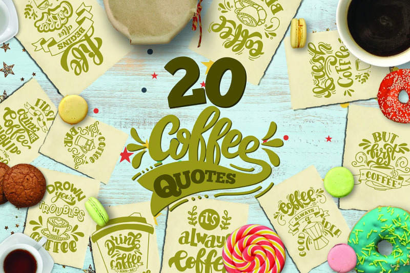 Coffee Svg Bundle Coffee Quotes Set Of 20 Quotes By Svg Story