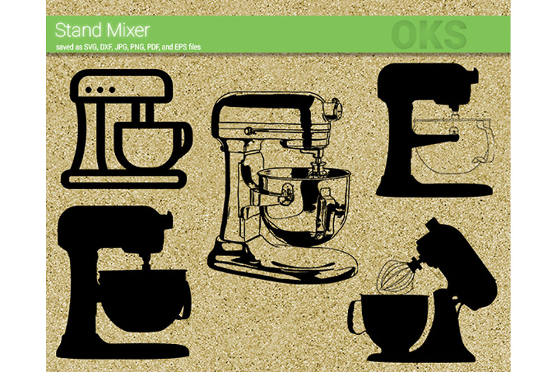 Stand Mixer Svg Svg Files Vector Clipart Cricut Download By