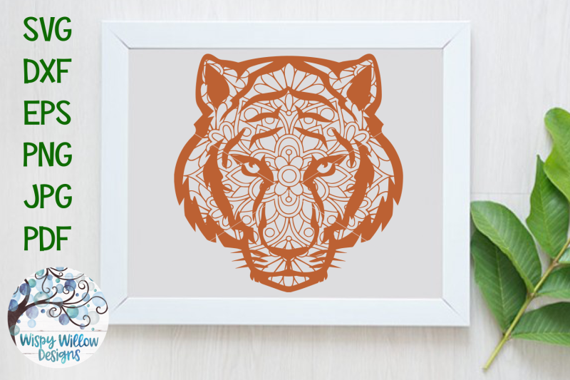 Download Tiger Face Mandala | Animal Mandala SVG Cut File By Wispy ...