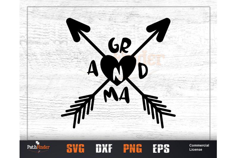 Grandma Love Svg Grandma Day Svg Design By Pathfinder