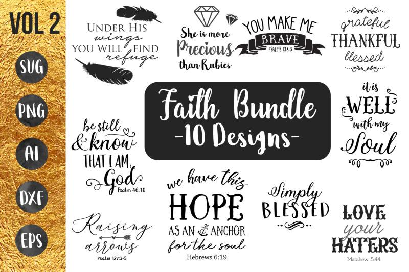 Faith Bundle Vol2 Svg By Dustyroaddesign Thehungryjpeg Com