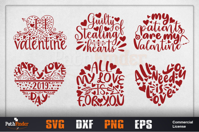 Valentine S Day Svg Design Bundle By Pathfinder Thehungryjpeg Com
