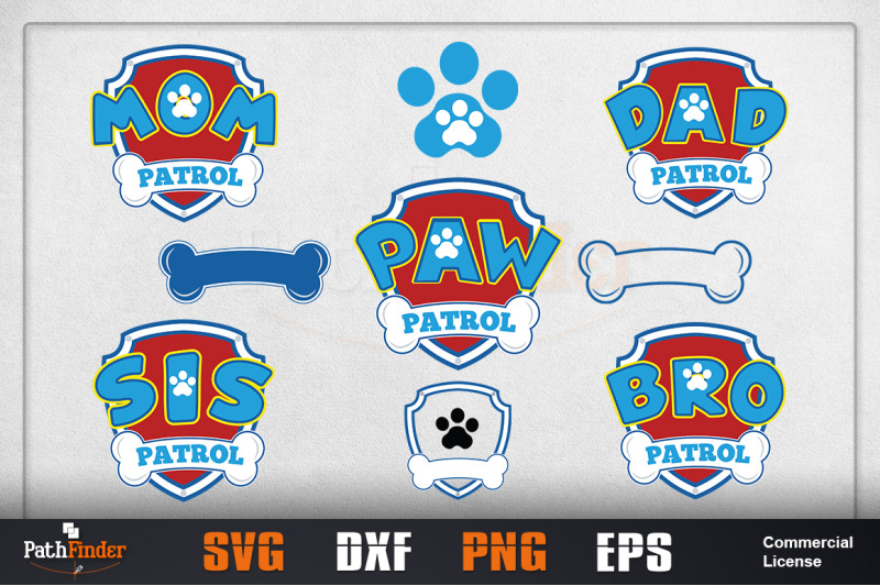 Paw Patrol Logo Design Paw Patrol Svg By Pathfinder Thehungryjpeg Com There's a paw and a bone for the paw and a shield to symbolize patrol. meaning and history. paw patrol logo design paw patrol svg