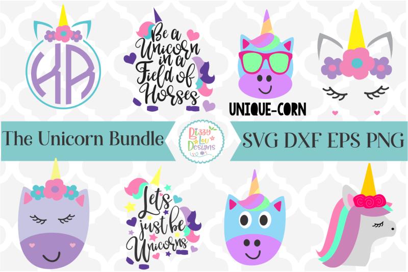 Unicorn Svg I Unicorn Svg Bundle By Bizzy Lou Designs