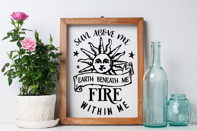 Sun Above Me Earth Beneath Me Svg By Blackcatssvg Thehungryjpeg Com