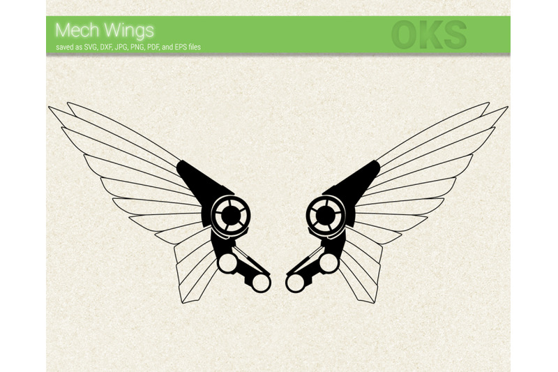 Robot Wing Svg Svg Files Vector Clipart Cricut Download By