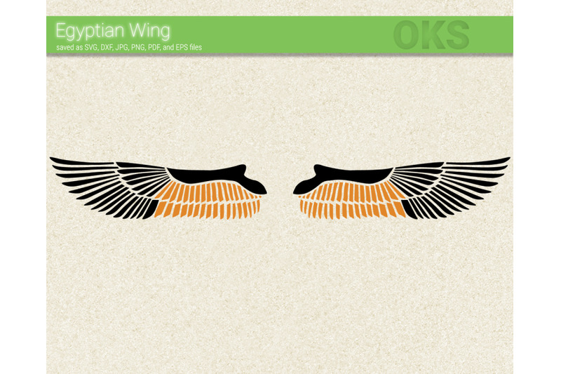 Egyptian Wing Svg Svg Files Vector Clipart Cricut Download By
