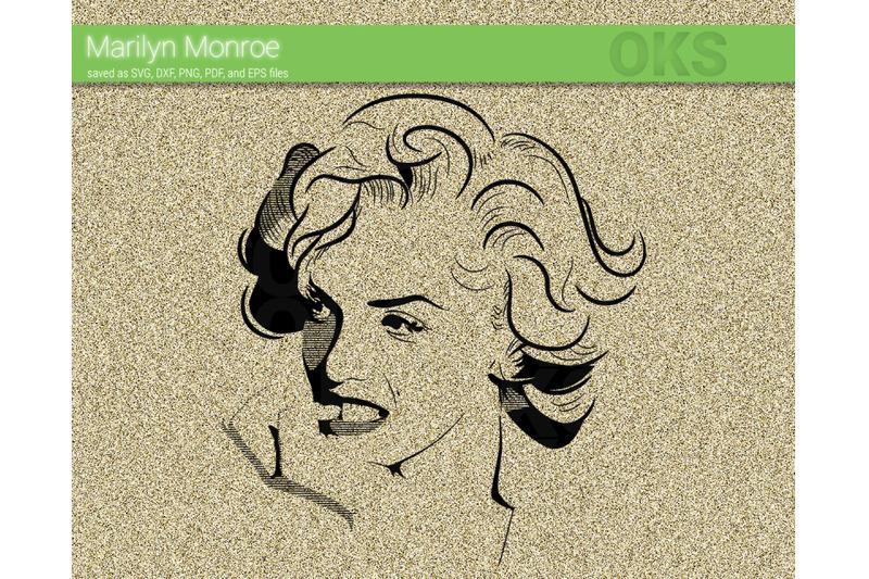 Marilyn Monroe Svg Svg Files Vector Clipart Cricut Download