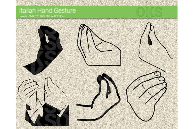 Italian Hand Gesture Svg Svg Files Vector Clipart Cricut