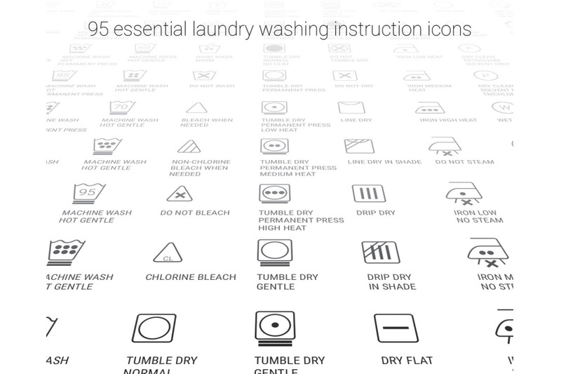 Laundry Care Symbol Svg Svg Files Vector Clipart Cricut