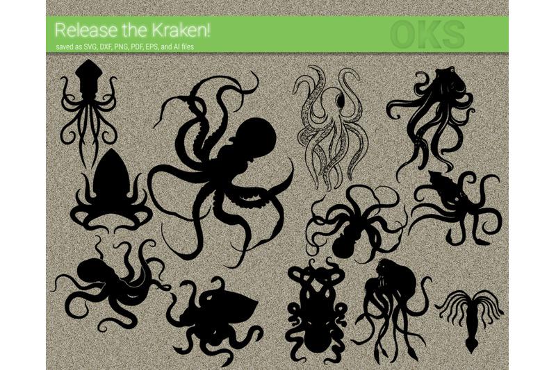 Kraken Svg Octopus Svg Files Vector Clipart Cricut Download