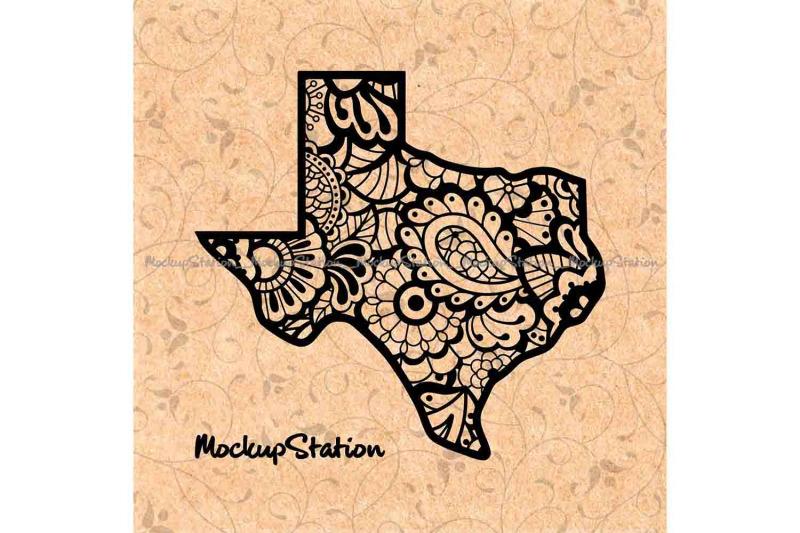 Texas Mandala Svg Tx Floral Paisley Png Texas State Vector By