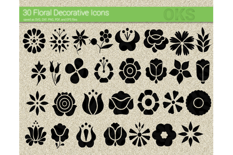 Floral Decorative Svg Flower Icon Svg Files Vector Clipart