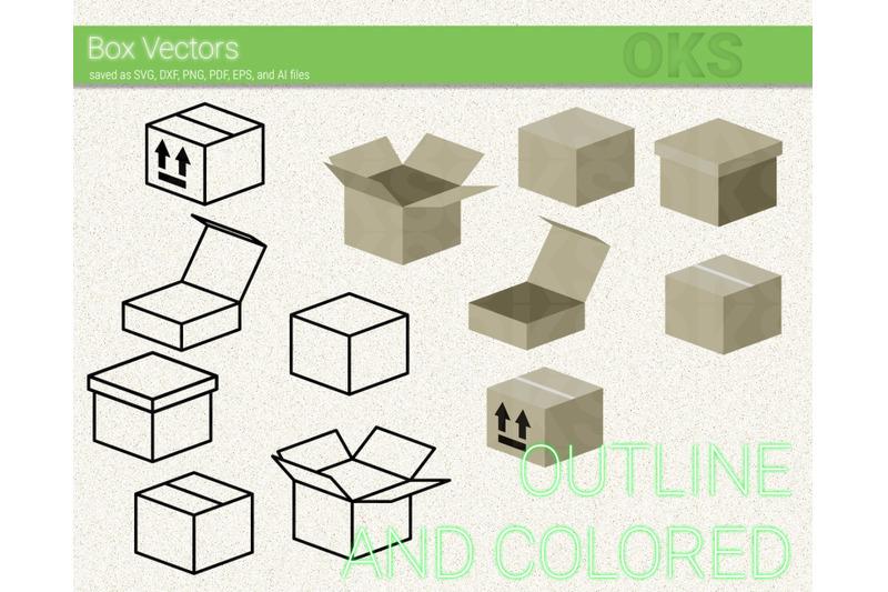 Box Icons Svg Box Vectors Svg Files Vector Clipart Cricut