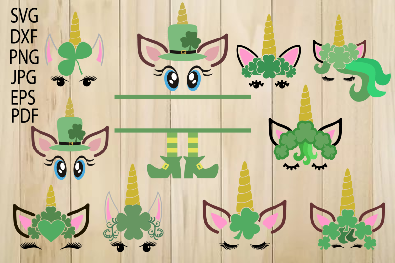 Unicorn Svg Unicorn Head Unicorn Face St Patrick S Day By
