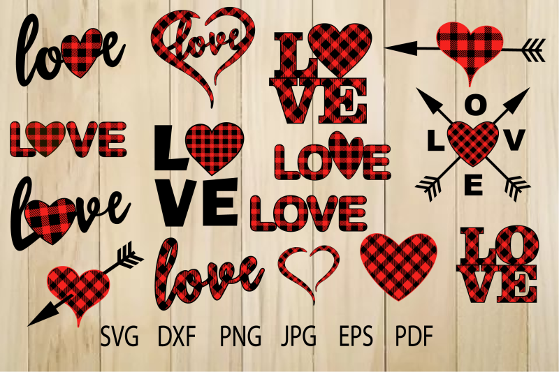 Buffalo Plaid Heart Svg Plaid Love Svg Valentine Heart By