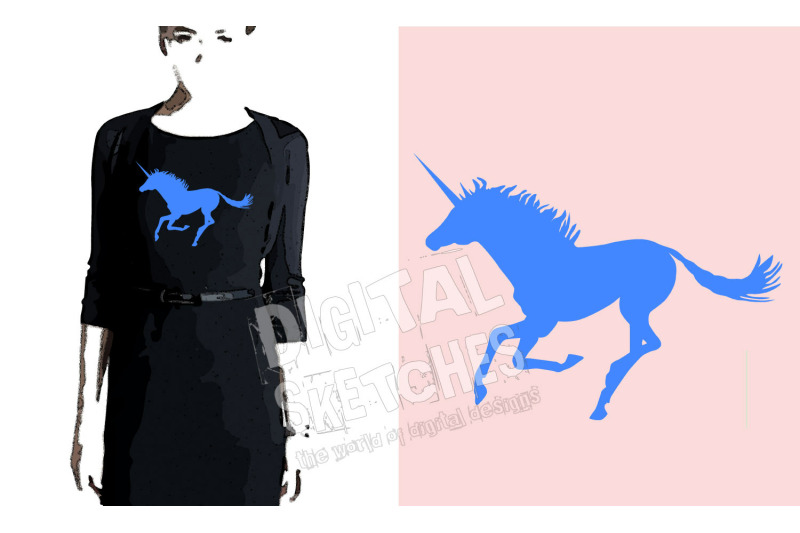 Unicorn Cut File Horse Animals Vector Silhouette Svg Dxf By