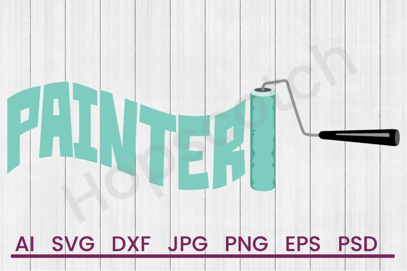 Painter Roller Svg File Dxf File By Hopscotch Designs