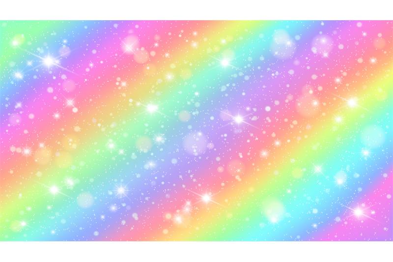 Glitters Rainbow Sky Shiny Rainbows Pastel Color Magic Fairy