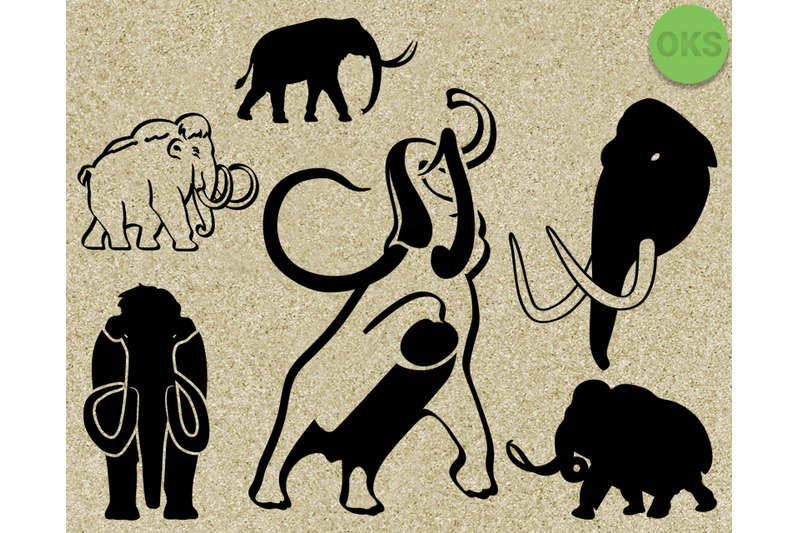 Mammoth Svg Svg Files Vector Clipart Cricut Download By