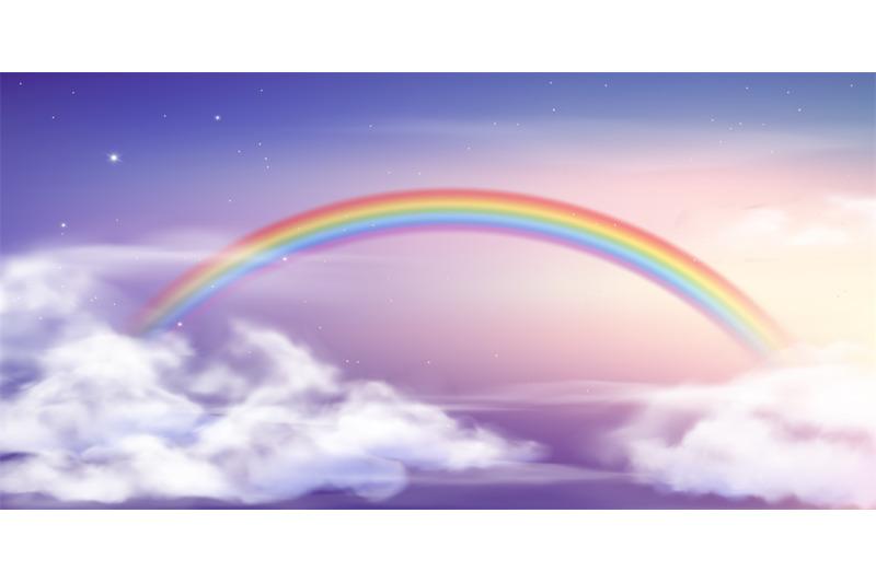 Fantasy Sky Rainbow Fairy Skies Rainbows Colors Magic Landscape