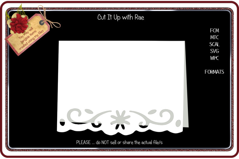 192 Border Greeting Card Fcm Mtc Scal Svg Wpc By Cut It Up With