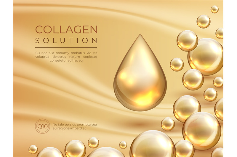 Collagen Background Cosmetic Skin Care Ad Banner Beauty Essence And By Spicytruffel Thehungryjpeg Com