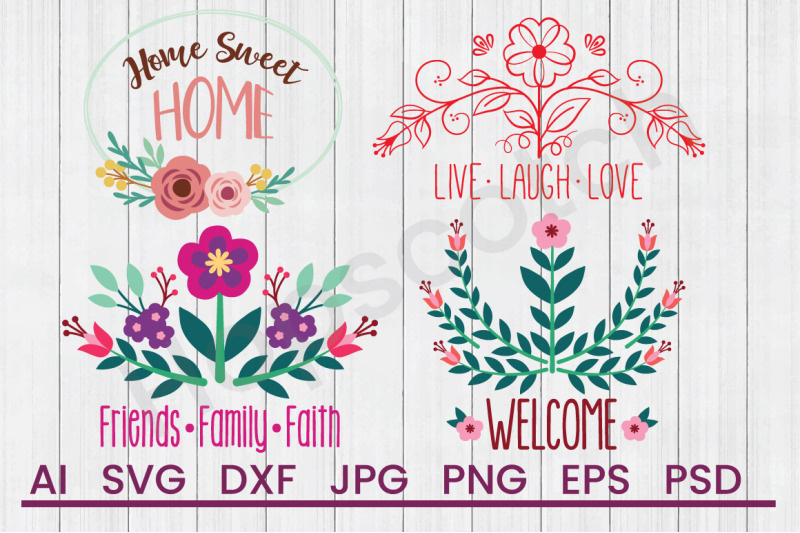 Home Bundle Svg Files Dxf Files Cuttable Files By Hopscotch