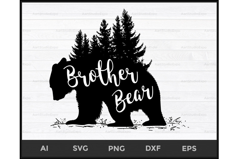 Brother Bear Svg Bear Family Svg Brother Bear Dxf Brother By