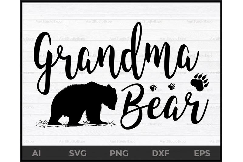 Grandma Bear Svg Files Grandma Bear Svg Bear Svg Grandma Svg