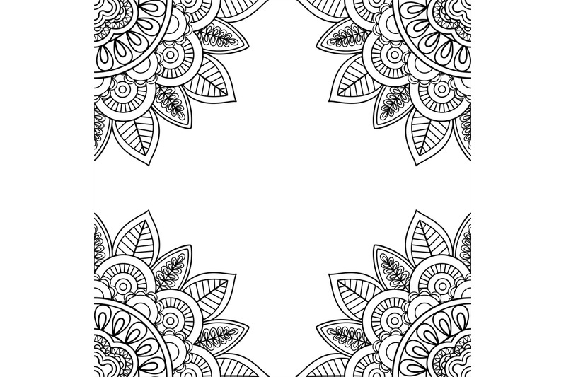 Indian Floral Frame For Coloring Pages Book By Smartstartstocker