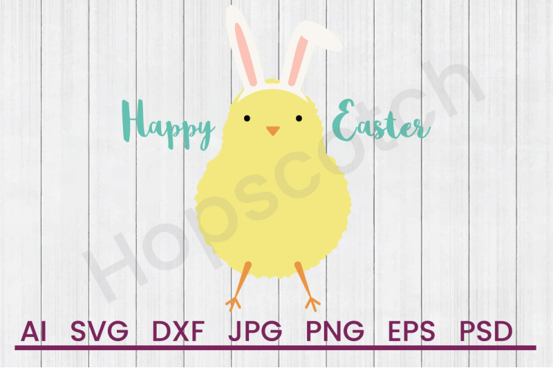 Happy Easter Svg File Dxf File By Hopscotch Designs