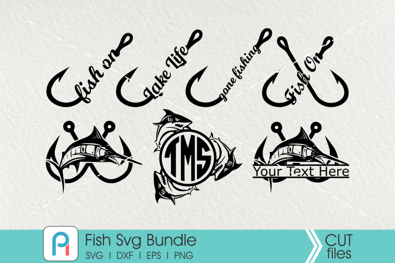 Download Fish Svg Bundle Fishing Svg Fish Clip Art Fishing Monogram By Pinoyart Thehungryjpeg Com