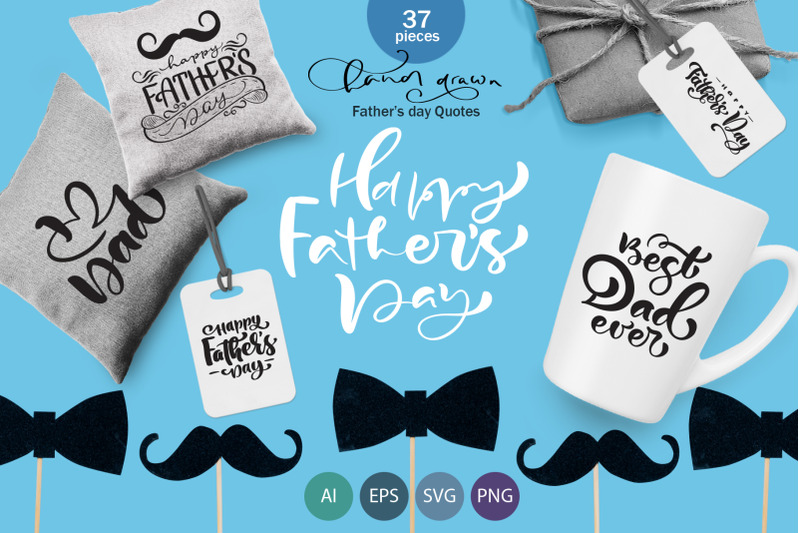 Father S Day Vector Svg Greeting Quotes By Happy Letters
