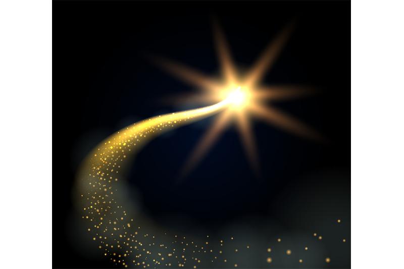 Magic Christmas Glowing Star By Vectortatu Thehungryjpeg Com