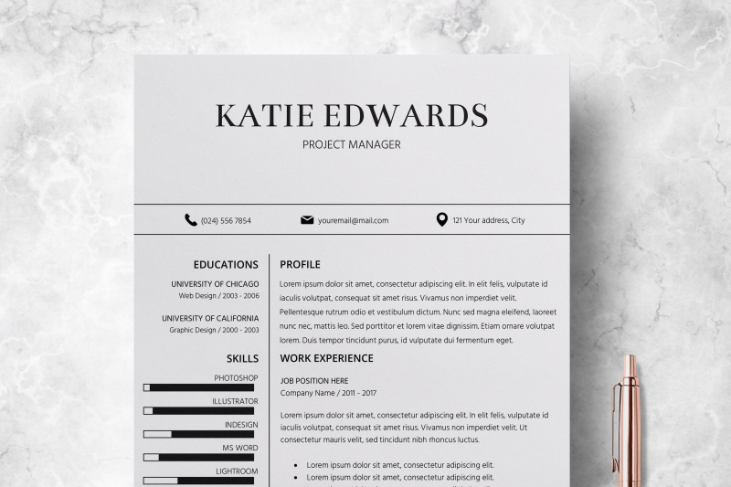Teacher Resume Template Word from media1.thehungryjpeg.com