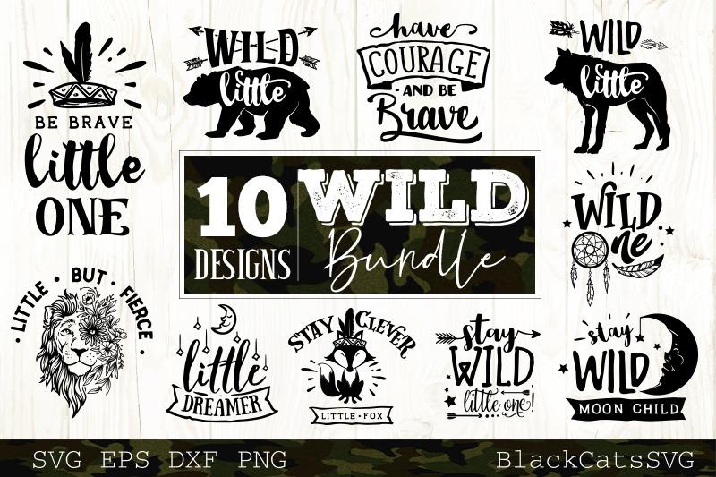 Wild Svg Bundle 10 Designs Vol 3 Wild And Boho Svg Bundle By Blackcatssvg Thehungryjpeg Com