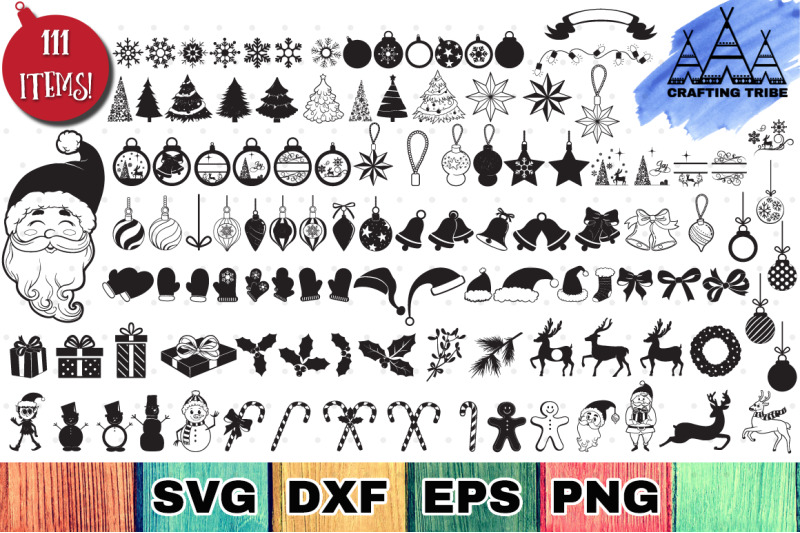 The Huge Christmas SVG Bundle with 111 Cut Files By