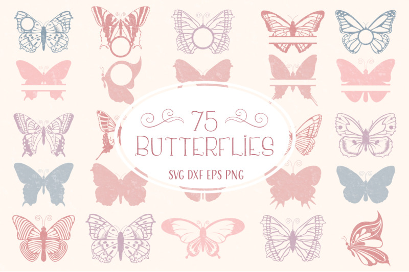 Butterfly Svg Butterfly Monogram Svg Cut Files Bundle By