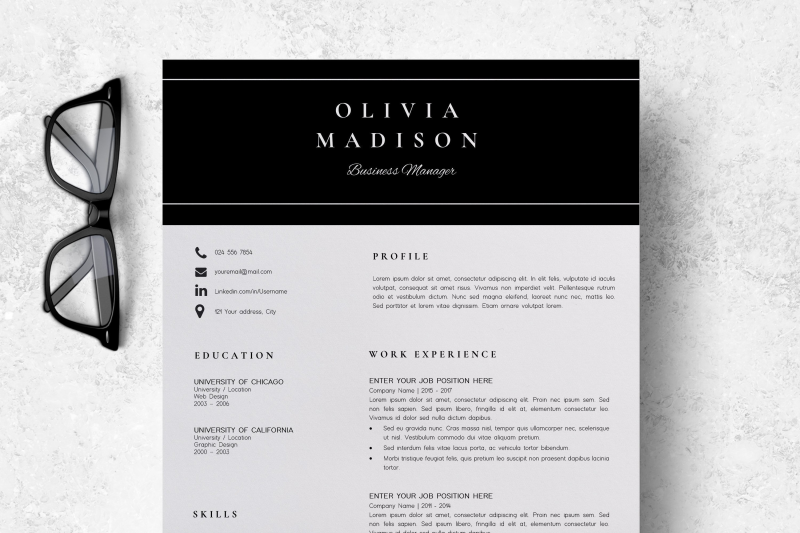 Resume Instant Download Creative Resume Ideas Olivia By