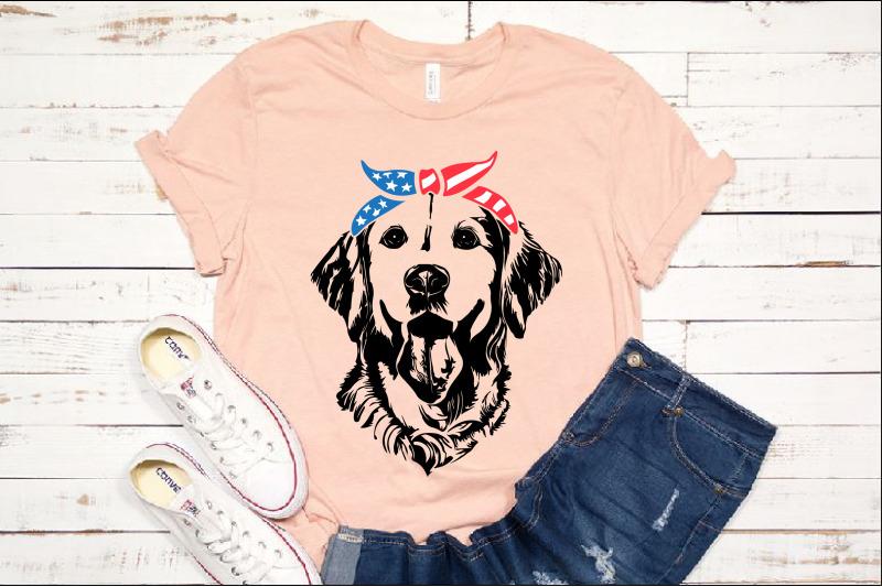 lab svg labrador usa bandana mask united states flag dog
