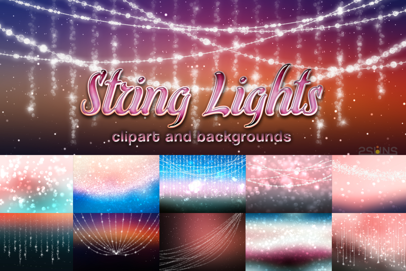 String Lights Clipart Christmas Png By 2suns Thehungryjpeg Com