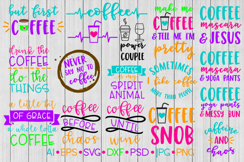 Coffee Svg Bundle Svg File Dxf By Bnr Designs Thehungryjpeg Com
