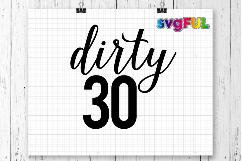 Dirty Thirty Dirty 30 30th Birthday Svg Birthday Svg Clipart