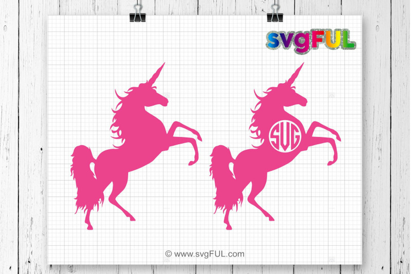 Unicorn Svg Unicorn Head Svg Unicorn Monogram Unicorn Clip Art