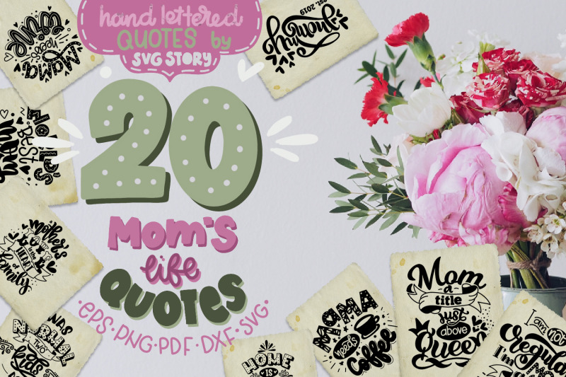 Mom S Life Bundle Svg Quotes Mother S Gift By Svg Story
