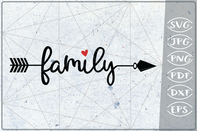 Family Arrow Svg Crafters Printables Svg Png Jpg Pdf Eps Dxf By