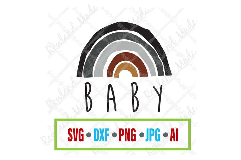 Rainbow Baby Svg Baby Svg By Rowland Made Thehungryjpeg Com